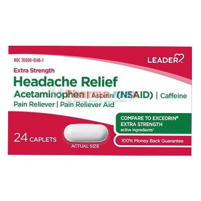 Leader Headache Relief 24caps