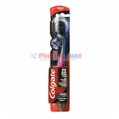 Colgate 360 Chracoal Toothbrush Brush Medium
