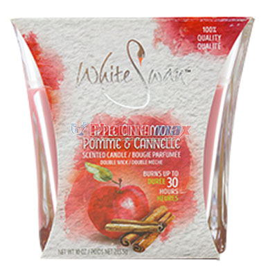 White Swan Candle Apple Cinnamon 10oz