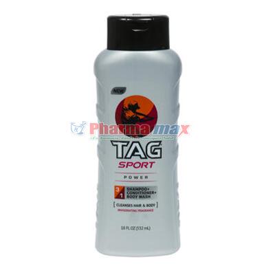 Tag Sport Body Wash 3in1 Power 18oz